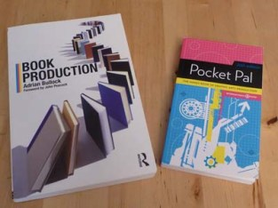 "Door prizes to be awarded at PubPro 2013 include ""Book Production,"" by Adrian Bullock and International Paper's ""Pocket Pal."" Photo by Iva Cheung."