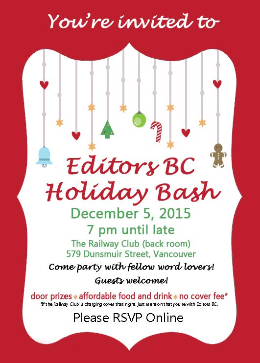 Editors BC 2015 Holiday Party Invitation