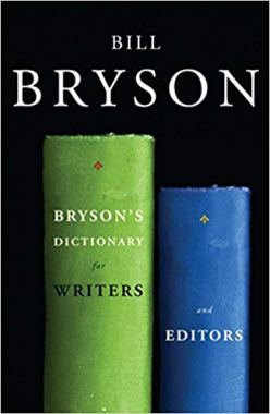 "Image of the cover for Bill Bryson's book ""Bryson's Dictionary for Writers and Editors,"" which features one tall green book and a shorter blue book."